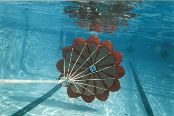 72 orange chute underwater